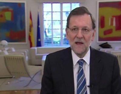 Discurso de Mariano Rajoy en el Día de la Constitución sin mirar a cámara