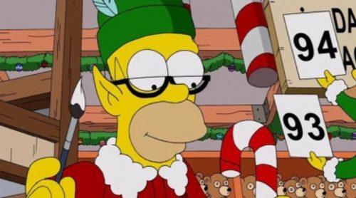 Cabecera navideña 2013 de 'Los Simpson'