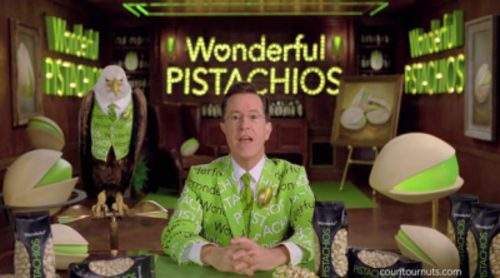 Anuncio de Stephen Colbert para Wonderful Pistachios en la Super Bowl 2014