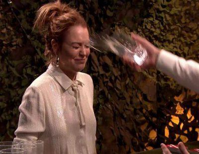 Guerra de agua entre Lindsay Lohan y Jimmy Fallon