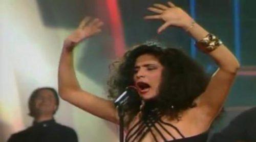 """Azúcar Moreno con """"Bandido"""", representante de España en Eurovisión 1990"""