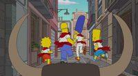 'Los Simpson' corren los San Fermines en Pamplona en su última cabecera