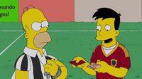 Un jugador de la Selección Española soborna a Homer Simpson, árbitro del Mundial 2014
