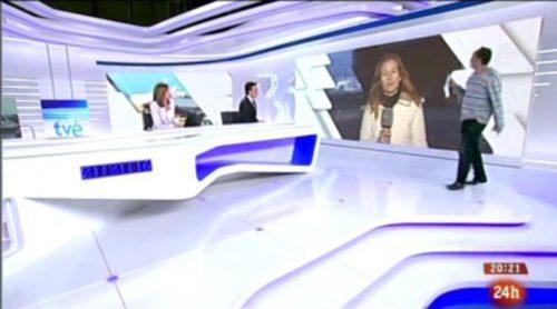 El espontáneo de 'Más vale tarde' se cuela en el 'Telediario 2'
