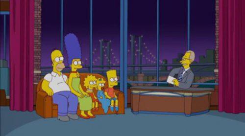 'Los Simpson' rinden homenaje a David Letterman con una cabecera