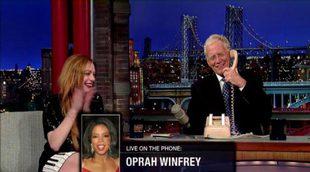 David Letterman llama a Oprah Winfrey y se hace pasar por una secretaria de Lindsay Lohan