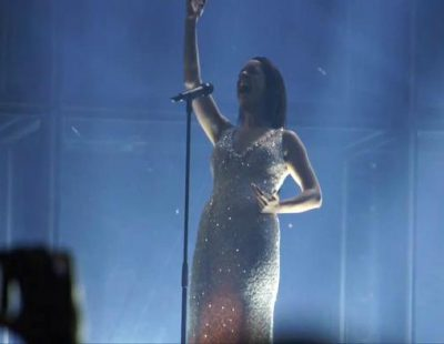 "Ruth Lorenzo ensaya la final de Eurovisión 2014: ""Dancing in the Rain"""
