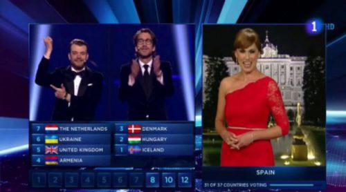 """Así dio los votos España en Eurovisión 2014: retraso y """"oit points"""""""