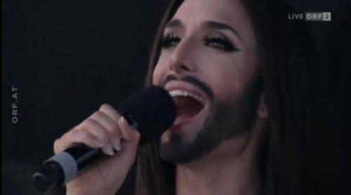 Multitudinario concierto de Conchita Wurst en Viena tras ganar Eurovisión 2014