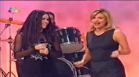 Shakira y Terelu Campos en 'Con T de Tarde' en Telemadrid