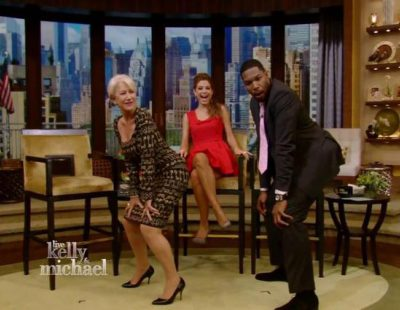 Helen Mirren haciendo twerking como Miley Cyrus