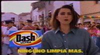 Anuncio del detergente Dash (1991), protagonizado por Irma Soriano