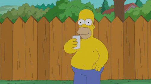 Homer Simpson, el último en cumplir el reto del cubo de agua helada