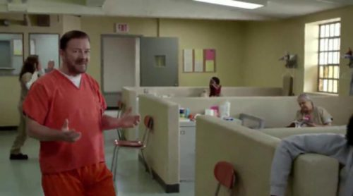 Ricky Gervais se cuela en 'Orange is the New Black' y 'House of Cards'
