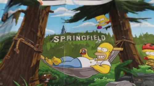 Así es el mural gigante de 'Los Simpson' en Springfield, Oregon