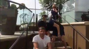Lena Heady, Kit Harington y Nikolaj Coster-Waldau ('Juego de tronos') cumplen el reto del cubo de agua helada