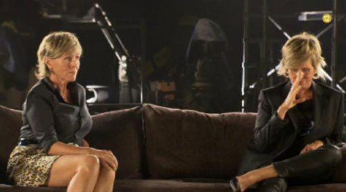Mercedes Milá y su doble, en la promo de 'Gran hermano 15'