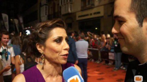 Los protagonistas de 'Bajo sospecha' en la alfombra naranja del FesTVal 2014