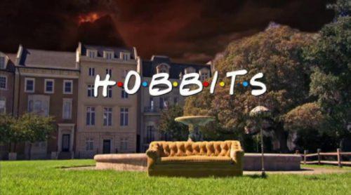 La cabecera de 'Friends' con Hobbits
