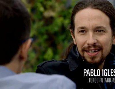 Pablo Iglesias y Pedro García Aguado, con Risto Mejide en 'Viajando con Chester'