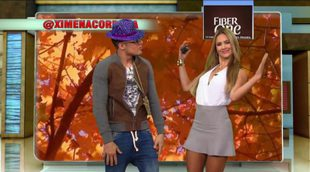 Ximena Córdoba también baila la canción del weather a ritmo de reggaetón