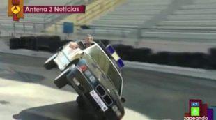 Reporteros intrépidos en 'Zapeando': A dos ruedas en 'Antena 3 Noticias'