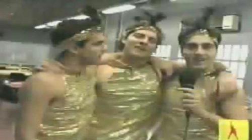 David Bisbal ya protagonizó su particular versión del spot de Freixenet con David Bustamante y Naim Thomas en 'OT'