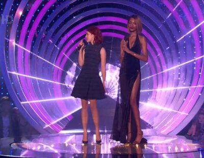 Jourdan Dunn muestra un pezón en un descuido en los MTV EMA 2014
