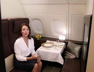 """Danii Minogue presenta """"The Residence"""", la primera clase más lujosa de la aviación"""
