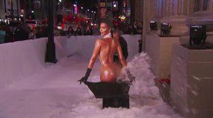 Jimmy Kimmel crea una máquina que echa nieve por el culo de Kim Kardashian