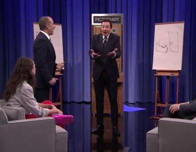 La surrealista partida de Pictionary de Jerry Seinfeld, Martin Short y Jimmy Fallon