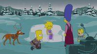 """'Los Simpson' rinde homenaje a """"Frozen"""" en su cabecera especial de Navidad"""