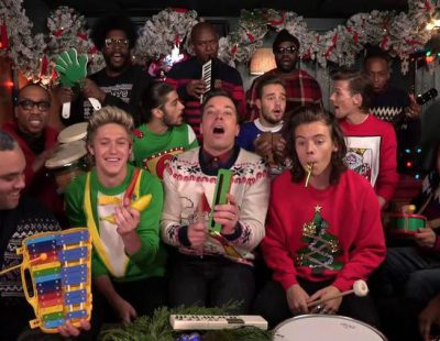 """One Direction y Jimmy Fallon cantan """"Santa Claus is Coming to Town"""""""