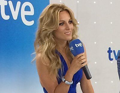 Así se presentó Edurne ante los medios de comunicación como la nueva representante española de Eurovisión