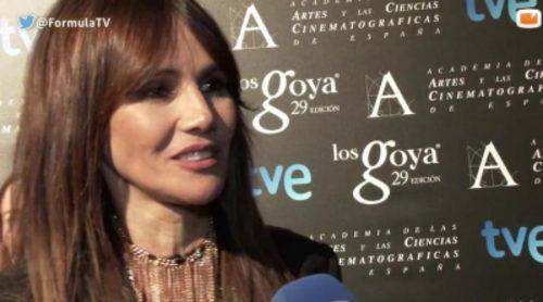 Fiesta de los Goya 2015: Toni Acosta, Goya Toledo, Raúl Arévalo e India Martínez