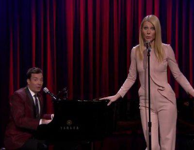 Gwyneth Paltrow y Jimmy Fallon convierten los éxitos de Nicki Minaj, Drake y otros raperos en versiones de Broadway