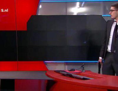 Un hombre armado toma rehenes en directo en una televisión holandesa
