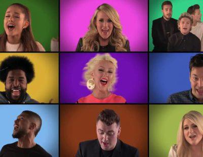 "Jimmy Fallon y varias estrellas de la música cantan ""We Are the Champions"" a cappella"