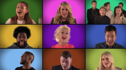 "Jimmy Fallon y varias estrellas de la música cantan ""We Are the Champions"" a cappella"