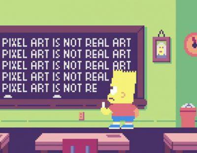 Ivan Dixon y Paul Robertson homenajean a 'Los Simpson' con una cabecera pixelada a 8 bits