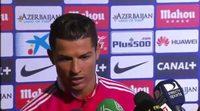 """Cristiano Ronaldo a un periodista de TV3: """"No eres inteligente, perdona"""""""