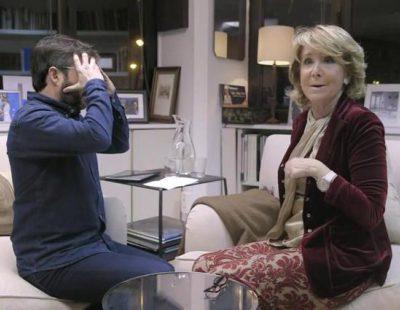 """Y Esperanza Aguirre se levantó y se fue de 'Salvados': """"Madre mía, ¡ya son las 7 y 10!"""""""