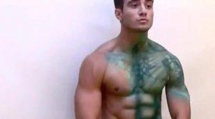 Desnudo de Rogan O'Connor ('La venganza de los ex') en Body Painting