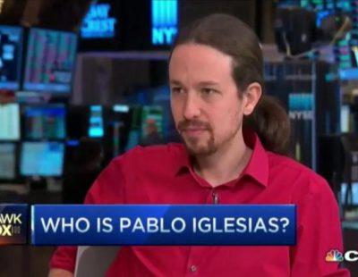 Pablo Iglesias concede una entrevista a la CNBC en español con sólo unas preguntas en inglés