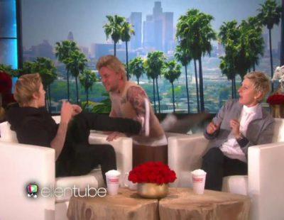 Ellen DeGeneres da un susto a Justin Bieber con un doble suyo