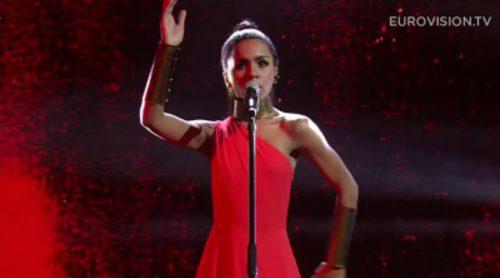 """Aminata Savadogo interpreta """"Love Injected"""", tema con el que representará a Letonia en Eurovisión 2015"""