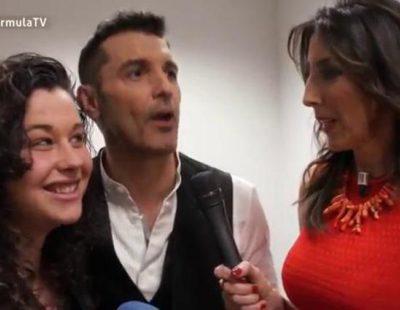 'Sálvame' aborda al equipo de FormulaTV.com en la grabación del spot del 25 aniversario de Telecinco