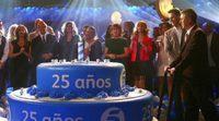 Spot del 25º aniversario de Telecinco con todos sus presentadores