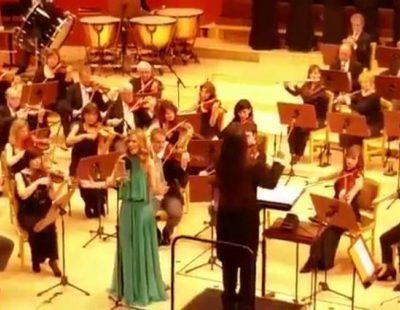 Edurne graba una versión sinfónica de 'Amanecer', su tema para Eurovisión