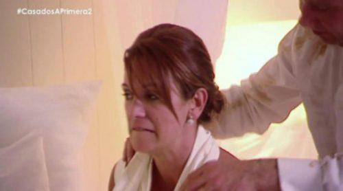 'Casados a primera vista': Laurent quiere sexo en su noche de bodas y Toñi le rehuye